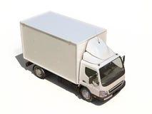 白色商业送货卡车 免版税图库摄影