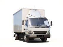 白色商业送货卡车 库存图片