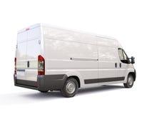白色商业送货车 图库摄影