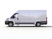 白色商业送货车 库存图片