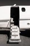 白色喷气机 库存照片