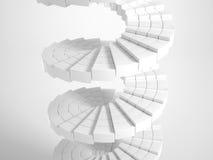 白色圆楼梯 免版税库存照片