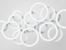 白色圆环 向量例证