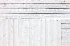 白色土气木板条背景 免版税库存照片