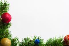 白色圣诞节贺卡背景 免版税库存图片