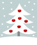 白色圣诞节结构树 皇族释放例证