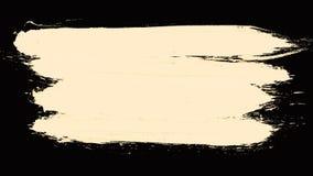 白色在黑背景的被绘的刷子冲程 在白色背景隔绝的套黑油漆冲程 被绘的刷子 库存照片