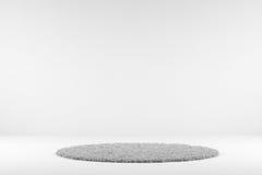白色地毯 库存例证