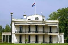 白色城堡Vanenburg, Putten,荷兰 库存照片