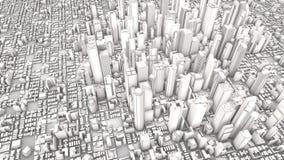 白色城市 向量例证