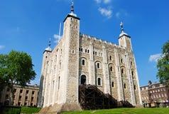 白色塔在伦敦,大英国 库存图片