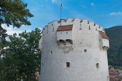 白色塔,布拉索夫,特兰西瓦尼亚,罗马尼亚 免版税库存照片