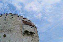 白色塔,布拉索夫,特兰西瓦尼亚,罗马尼亚 库存图片