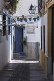 白色墙壁和罐街道特点科多巴 免版税库存照片