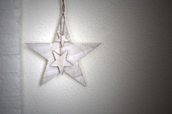 白色墙壁有星背景 库存照片