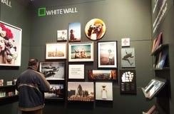白色墙壁立场NEC伯明翰2016年 图库摄影