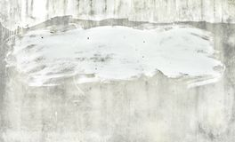 白色墙壁背景在城市 库存图片