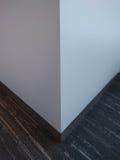 白色墙壁角落 免版税库存图片