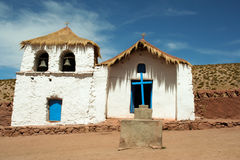 白色墨西哥教会 库存图片