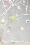 白色复活节树 库存图片