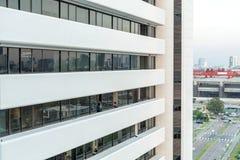 白色大厦和办公室 免版税库存照片