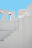 白色大厦在Oia,圣托里尼,希腊 免版税图库摄影
