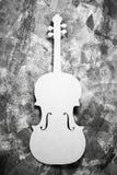 白色大提琴 库存图片