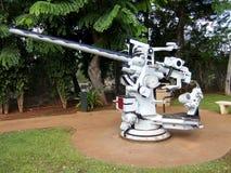 白色大炮珍珠港夏威夷 免版税库存照片