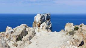 白色大理石岩石断层块 库存照片