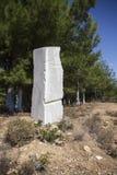白色大理石巨大的石头  免版税图库摄影