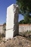 白色大理石巨大的石头  免版税库存照片