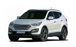 白色大SUV 免版税库存照片