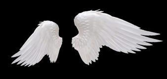 白色天使翼 免版税库存照片