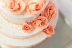 白色婚宴喜饼 库存图片