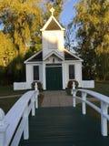 白色婚礼教堂 库存照片