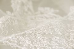 白色婚礼鞋带 免版税库存照片