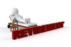 白色字符和退休 免版税库存图片