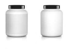 白色容器嘲笑 图库摄影