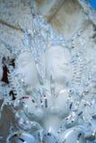 白色寺庙天使模型  库存图片