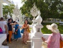 白色寺庙,清莱, 免版税库存图片
