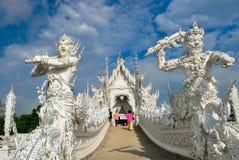 白色寺庙Wat荣Khun 库存照片