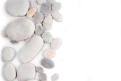 白色小卵石石头框架 免版税图库摄影