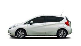 白色小汽车 免版税库存图片