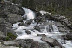 白色小河瀑布 库存照片