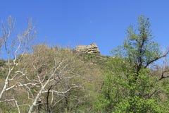 白色岩层在Sedona亚利桑那 免版税库存图片