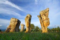 白色岩石stonehenge国家公园 免版税库存图片