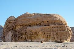 白色峡谷砂岩山 库存图片
