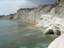 白色峭壁-斯卡拉dei Turchi 库存照片
