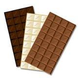 白色巧克力块 免版税库存照片