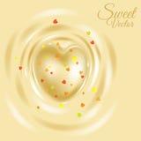 白色巧克力心脏 免版税库存照片
